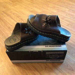 Dr Martens slip on mule, dark brown, new condition